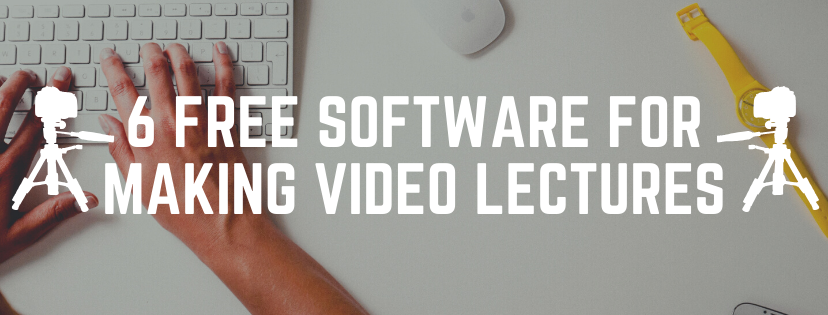 Free software for making video lectures