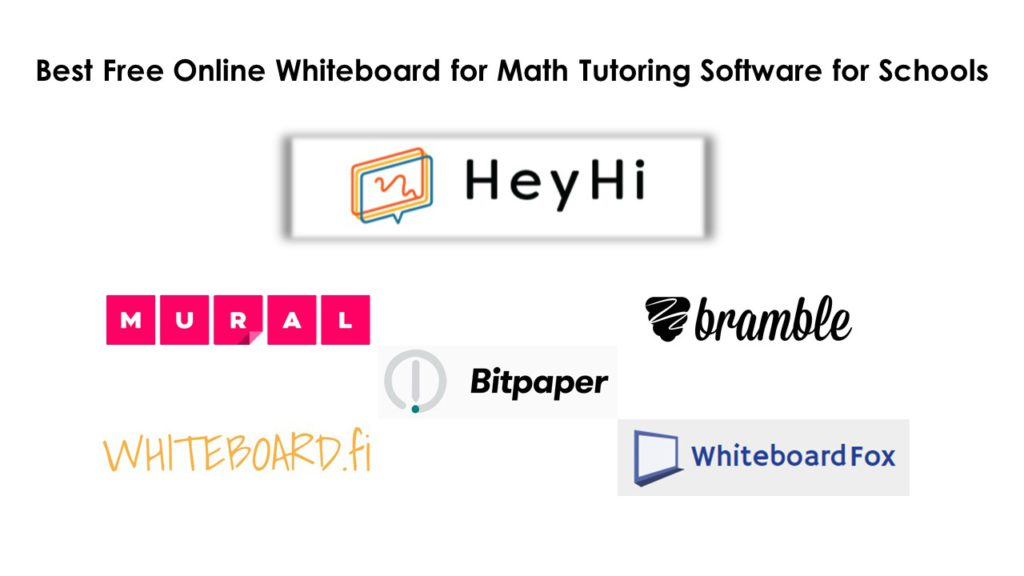 Best Free Online Whiteboard for Math Tutoring Software for Schools